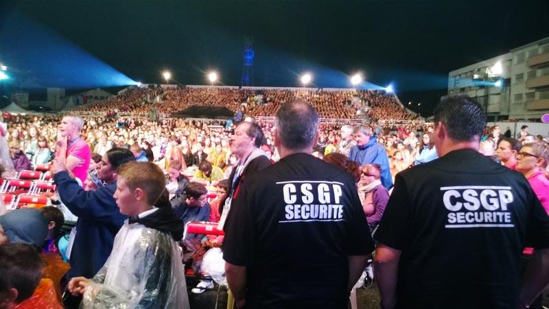 Service d'ordre de la CSGP sécurité en Festival